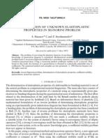 Determination of Unknown Elastoplastic Properties in Signorini Problem