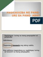 Pagkakaiba Ng Pang-uri Sa Pang- Abay