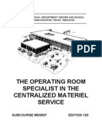 US Army Medical Course MD0937-200 - The Operating Room Specialist in the Centralized Materiel Service