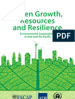 Green Growth, Resources and Resilience