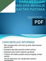 4. Cara Merujuk Informasi Dan Menulis Daftar Pustaka 4