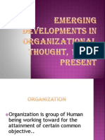 Emerging Developments in Organizational Thought, 1975