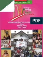 Resumen Agenda Politica de La Mujer de la región Junín 2011 - 2014