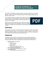 Guidelines for Surgical Treatment of Empyema and Related Pleural Diseases