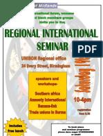 Regional Seminar