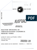 Fracture Mechanics of Through-Crack Cylindrical Pressure Vessels
