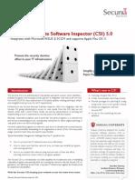 Secunia CSI product sheet