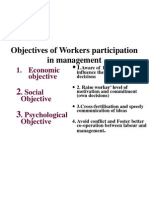Objectives of Workers Participation in Management