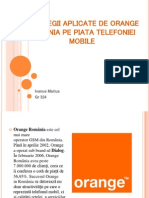 Strategii Ale Firmei Orange Romania