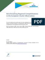Benchmarking Regional Competitiveness in the European Cluster Observatory (Eng)/  Evaluación comparativa de competitividad regional en el Observatorio Europeo del Cluster (Ing)/  Eskualdeko lehiakortasunaren azterketa konparatiboa Europako Kluster Behatokian (Ing)
