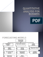 Quantative Techniques Forecasting and Analysis Iipm