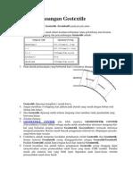 Metode Pemasangan Geotextile