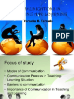 Communications in Teaching and Learning