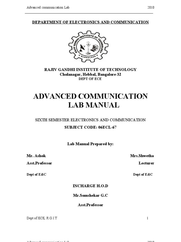 advanced communication lab manual antenna radio modulation rh fr scribd com Microwave Oven Old Microwave