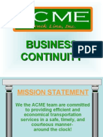 STEPS Acme Truck Business Continuity