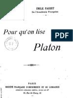 52459197 Emile Faguet Pour Qu on Lise Platon