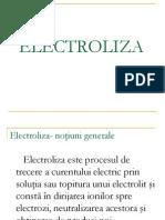 chimie electroliza