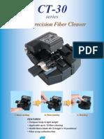 Fibre Optics Cleaver Ct30 Brochure
