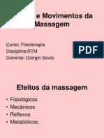 Movimentos e Fluxo de Massagem