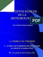 CONCEPTOS BASICOS METEREOLOGIA