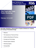 2011 - FDA Track and Trace Public Workshop - Day 1 Slides