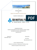 sbi mutual fund marketing summer training report