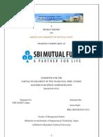 sbi mutual fund marketing summer training report