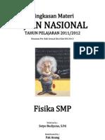 Ringkasan Materi UN IPA Fisika SMP
