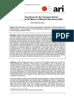 Energy alternatives for the transport sector (Eng)/ Alternativas energéticas para el sector del transporte (Ing)/ Alternatiba energetikoak garraioen sektorean (Ing)