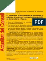 Dispositivo Conselleria Governació  Semana Santa y Pascua 2012