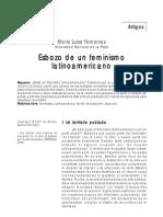 FEMENÍAS, M L. Esbozo de un feminismo latinoamericano