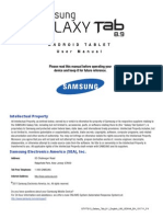 Samsung GT-P7310 Galaxy Tab 8-9 English User Manual