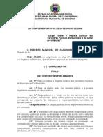Lei Complementar 03 -  Regime Jurídico