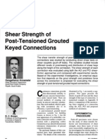 Shear Strength of Post Tensioned Grouted Key Connections