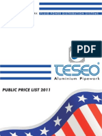 US Price List 2011