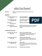 Alyshia Van Kannel Resume (ECMP)