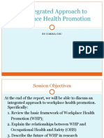 An Integrated Approach to Workplace Health Promotion