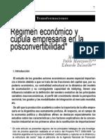 Régimen económico y cúpula empresaria en la posconvertibilidad