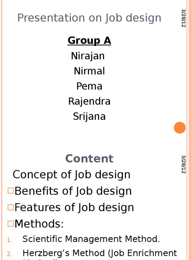 methods of job enrichment