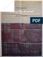 Raoul de Keyser Exhibition Poster