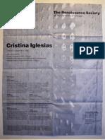 Cristina Iglesias Exhibition Poster