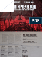 Martin Kippenburger Exhibition Poster