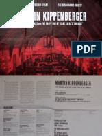 Martin Kippenburger Exhibition Poster