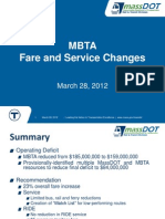Final MBTA Fare/Service Proposal