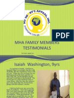 MHA Parents Testimonials