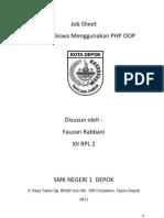 Job Sheet Biodata Siswa