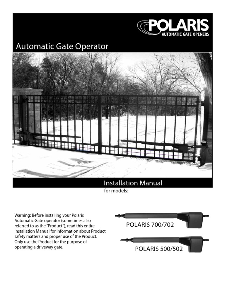 Polaris 500 700 Swing Gate Opener Installationmanual1