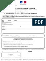 Demande d Inscription Du Candidatu a Une Extension PDF