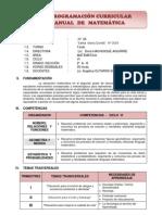 PROGRAMACIÓN ANUAL DE MATEMATICA 2º