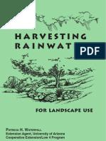 Harvesting Rainwater for Landscape Use